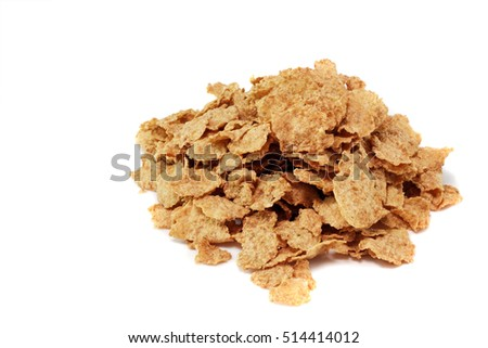 Pile of wheat flakes