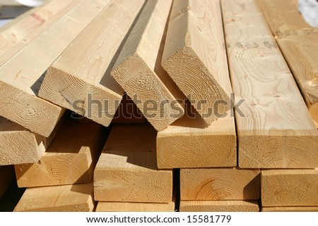 Pile of 2x4 studs for new home construction - stock photo