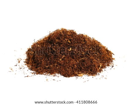 pile tobacco isolated on white background - stock photo