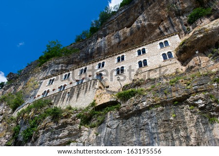 pilgrimage church of Notre Dame in French Rocamadour