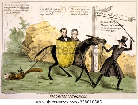 andrew jackson leading the democratic party donkey