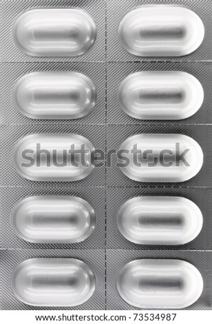 Pill blister package close up - stock photo