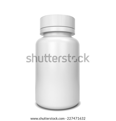 Pill box. 3d illustration isolated on white background  - stock photo
