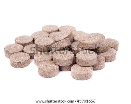 Pill isolated on white background