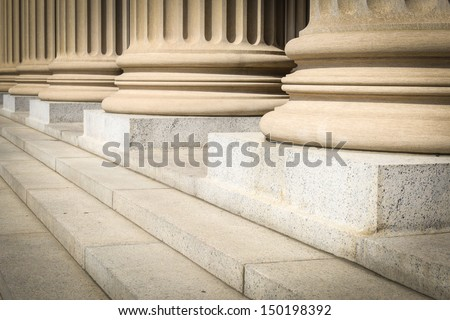 Pillars and Steps - stock photo