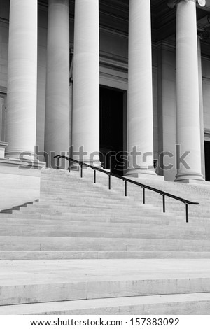 Pillars and Steps - stock photo