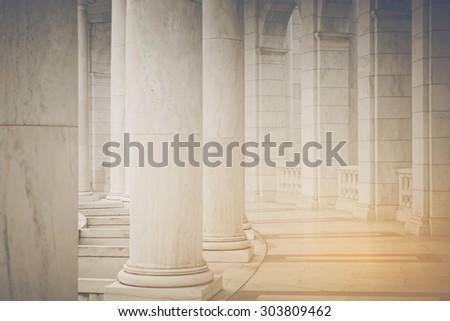 Pillars in Retro Instagram Style - stock photo