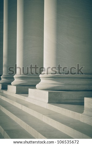 Pillars of Law and Education - stock photo