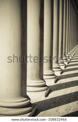Pillars of Strength - stock photo