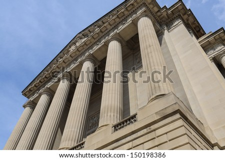 Pillars or Columns Blue Sky - stock photo