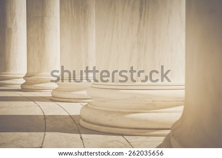 Pillars with Retro Instagram Style Filter - stock photo