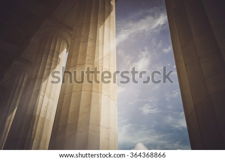 Pillars with Vintage Instagram Style Filter - stock photo