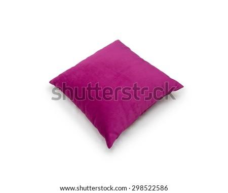 pillow isolated on white - stock photo