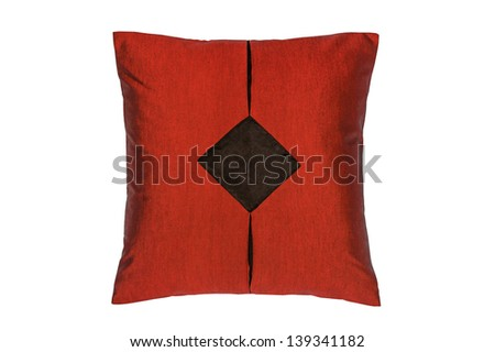 Pillow isolated on white background with clipping path
