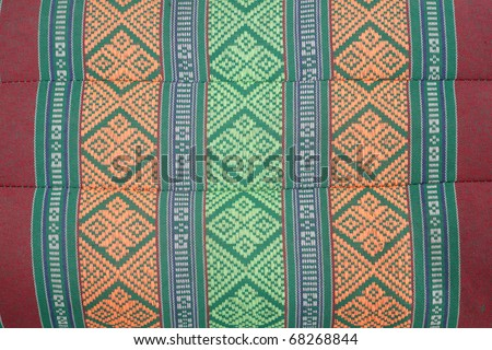Pillow lace pattern with texture, in thailand - stock photo