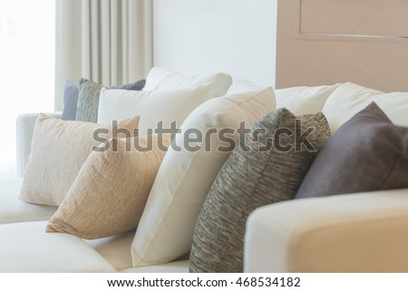 pillow on chair decoration interior of home
