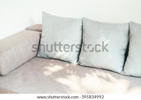 Pillow on sofa and chair decoration in living room interior - Vintage Light Filter