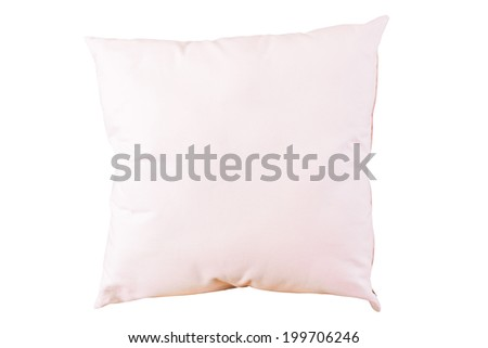 pillow on white background