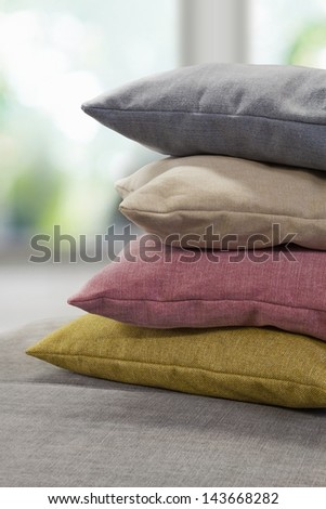 pillow stack - stock photo