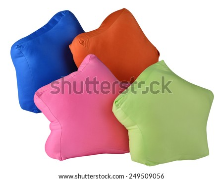 Pillows in star shape. - stock photo