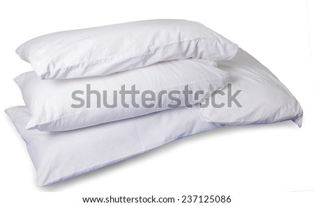 Pillows isolated on white on white background. This has clipping path. - stock photo