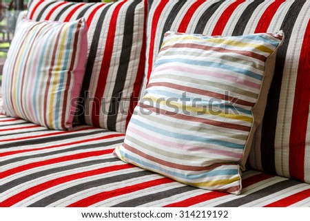 pillows on sofa for relax