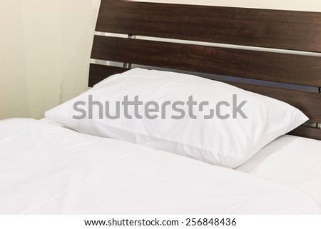 Pillows on the bed