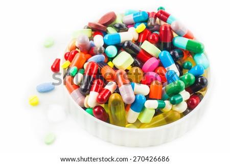 pills and capsules - stock photo