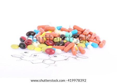 pills and tablets - stock photo