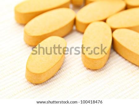 Pills close up - stock photo