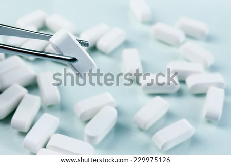 Pills, close-up