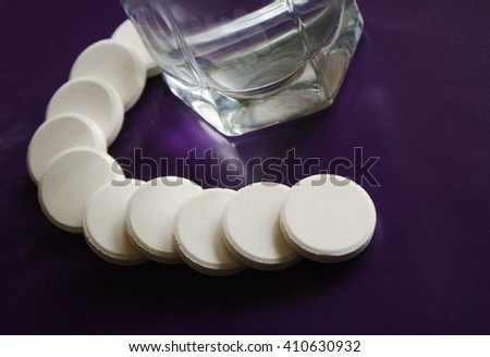 Pills for health care - stock photo