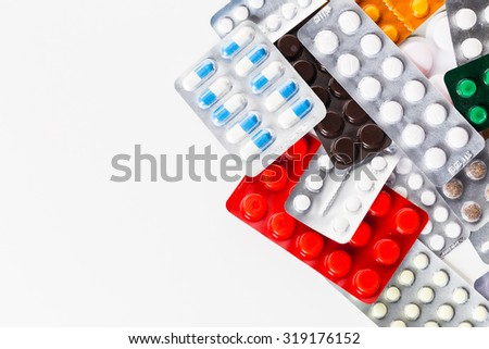 Pills in blister pack, medicine
