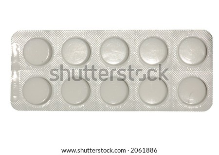 Pills. Isolated and Clipping Path Included.