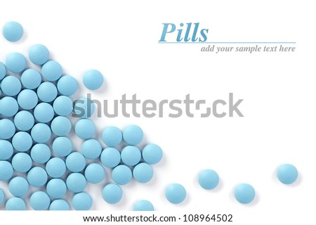 Pills isolated on white - stock photo