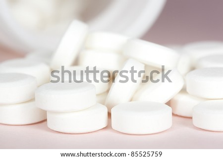 Pills, Super macro background