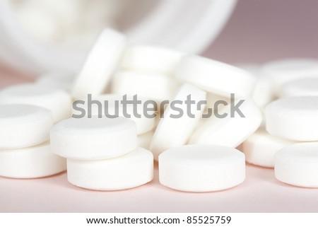 Pills, Super macro background - stock photo