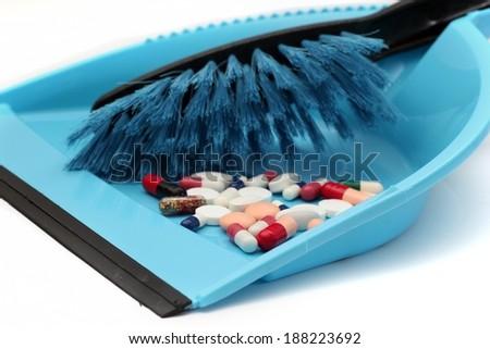 Pills trash - stock photo