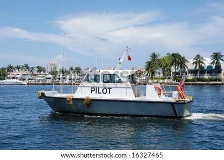 Pilot Boat in Fort Lauderdale, Florida - stock photo