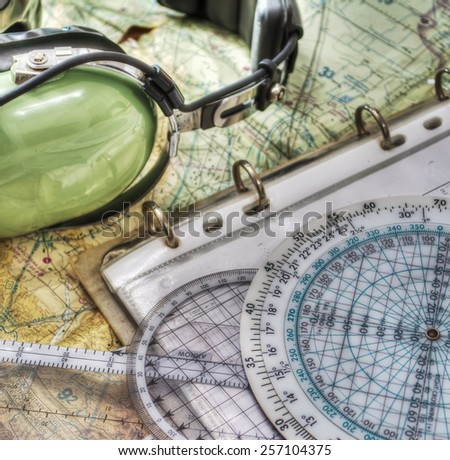 Pilot Headset Other Tools Hdr Tone Stock Photo 257104375 ...