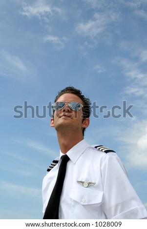 Pilot looking to the skies