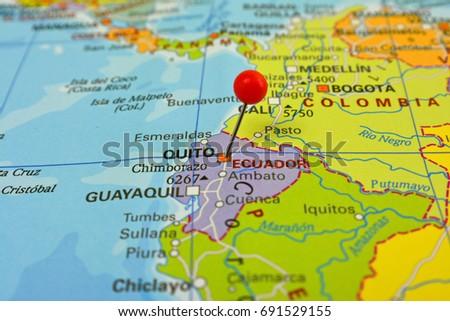 Pin City Quito Capital Ecuador Stock Photo Shutterstock - Capital of ecuador