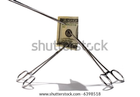 Pinched by Health Costs? - stock photo