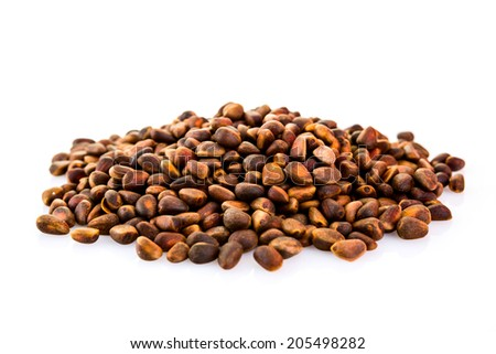Pine Nuts isolated on a white background
