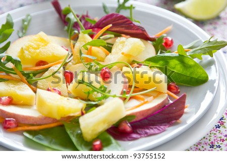 Pineapple and apple salad [ Fruits salad]