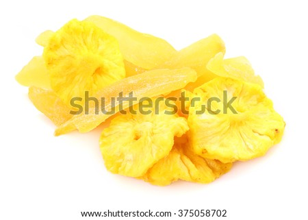Pineapple and mango of dried fruits