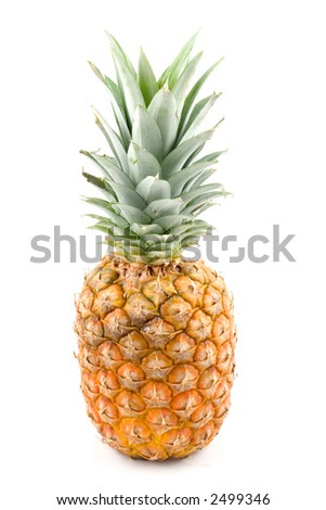 pineapple on white background (isolated)