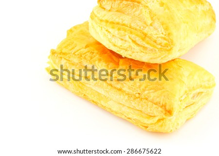 pineapple pie on white background  - stock photo
