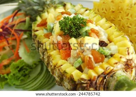 pineapple salad - stock photo