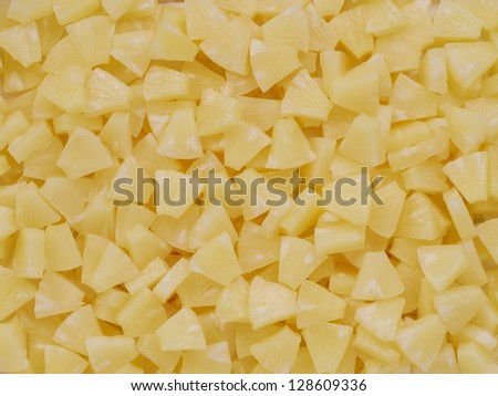 Pineapple slices for background